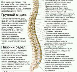 Психосоматика Луизы Хей — таблица заболеваний позвоночника