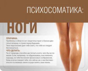 Психосоматика: Ноги. О чем они говорят?